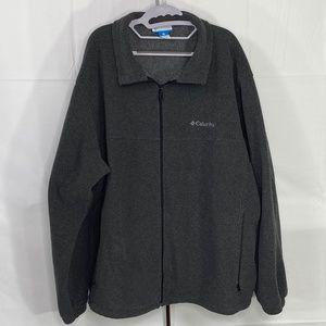 Columbia Men's 3X Charcoal Gray Fleece  Jacket EUC